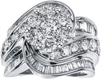 JCPenney MODERN BRIDE 4 CT. T.W. Diamond 14K White Gold Swirl Ring