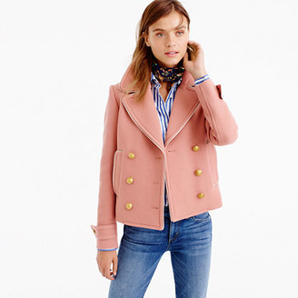 Short double-breasted coat in double-cloth wool $298 thestylecure.com