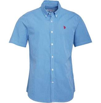 U.S. Polo Assn. Mens Cross Short Sleeve Shirt Director Blue