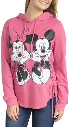 Disney Juniors' Mickey & Minnie Graphic Side Lace-Up Hoodie
