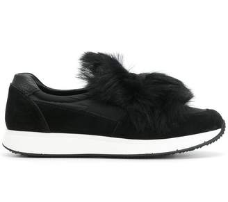 Car Shoe slip on fur sneakers