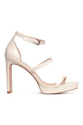 H&M Platform Sandals - White - Women