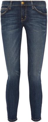 Current/Elliott - The Stiletto Mid-rise Skinny Jeans - Dark denim $195 thestylecure.com