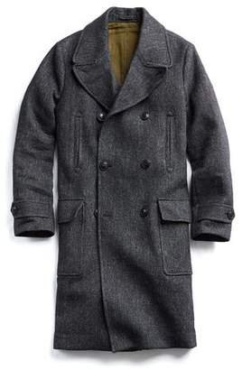 Todd Snyder Italian Wool Twill Officer Coat in Black