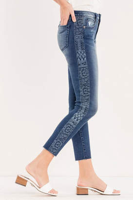Miss Me Embroidered Side-Seam Ankle-Skinny