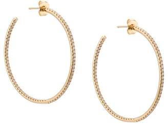Sara Weinstock 18kt yellow gold small Veena Eternity Inside-Out diamond 40mm wide hoop earrings