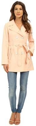 Jessica Simpson Double Breasted Belted Trench Women's Coat
