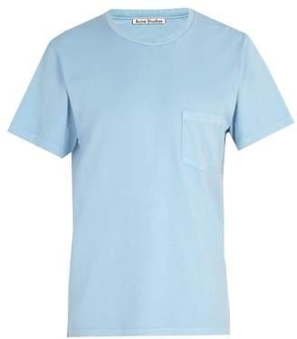 Acne Studios Patch Pocket Cotton T Shirt - Mens - Blue