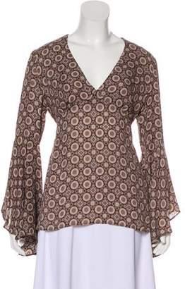 Michael Kors Silk Printed Blouse