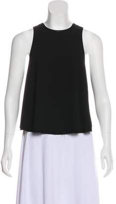 Alexander Wang Leather-Trimmed Sleeveless Top