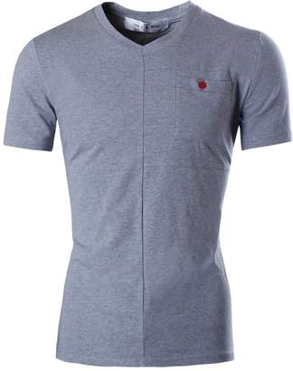 Toms Tom's Ware Mens Basic Slim Fit Summer V-neck Shortsleeve T-shirt TWCT02-XXL (US XL)