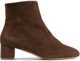 Mansur Gavriel Shearling-lined Suede Ankle Boots - Brown