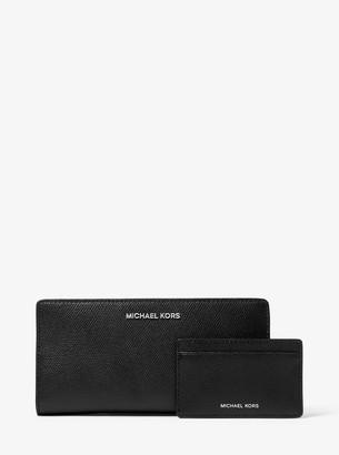MICHAEL Michael Kors Saffiano Leather Slim Wallet