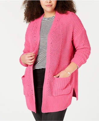 Style&Co. Style & Co Plus Size Chenille Open-Front Cardigan