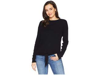 Tribal Long Sleeve Knotted Front Sweater