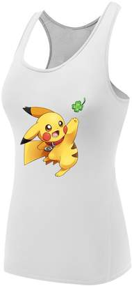 Pokemon Sysuer Tank Sysuer Lady Japan Anime Pikachu Base Layer Dry Fit Training Tank Top