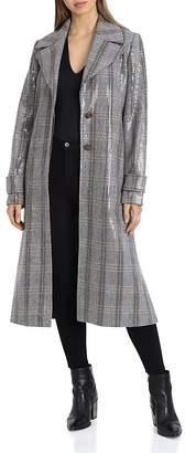 AVEC LES FILLES Sequined Trench Coat