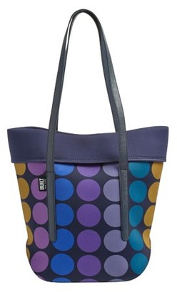 Built NY Neoprene Large City Tote with Strap Plum Dot, Lunch Bag