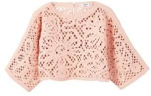 MANGO Openwork cropped sweater