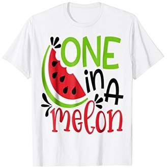One In A Melon Cute Fun Summer Watermelon T-Shirt