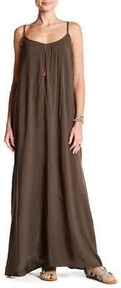 Love Stitch Challis Strappy Maxi Dress
