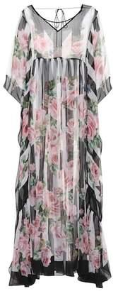 Dolce & Gabbana Floral-printed silk kaftan