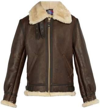 Schott Shearling leather jacket