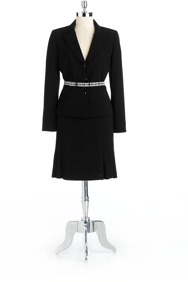 Tahari ARTHUR S. LEVINE Two-Piece Belted Skirt Suit