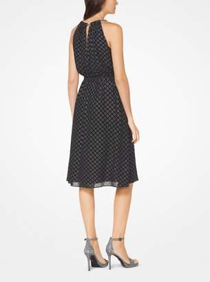 MICHAEL Michael Kors Chain-Link Dot Chiffon Dress