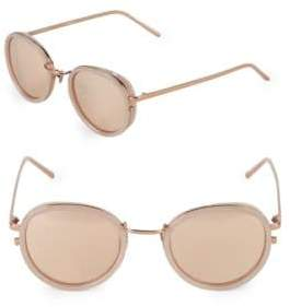 Linda Farrow Luxe 51MM Round Sunglasses