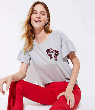 LOFT Petite Embroidered Toucan Tee
