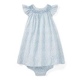 Polo Ralph Lauren Floral Smocked Dress & Bloomer(3-12 Months)
