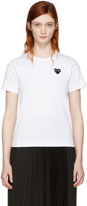 Comme des Garçons Play White Small Heart T-Shirt $95 thestylecure.com