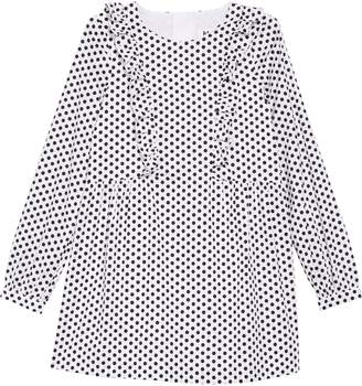 Milly Long Sleeve Polka Dot Dress