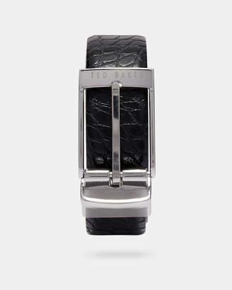 Ted Baker PENNA Croc embossed reversible leather belt