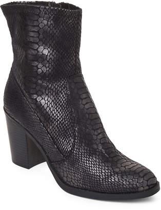 Dolce Vita Black Faux Snakeskin Boots