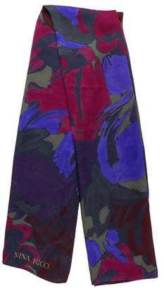Nina Ricci Silk Floral Print Scarf
