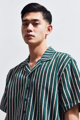 Publish Striped Short Sleeve Button-Down Shirt