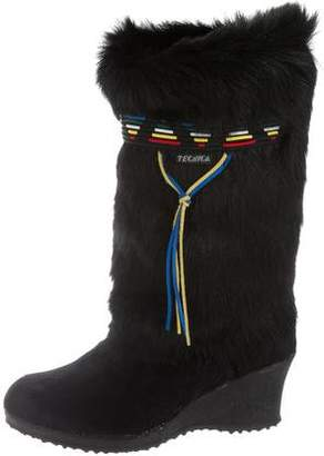 Tecnica Shearling Knee-High Boots