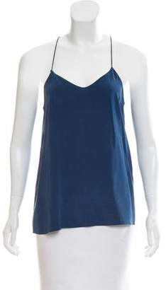 Tibi Silk Razor-Back Top