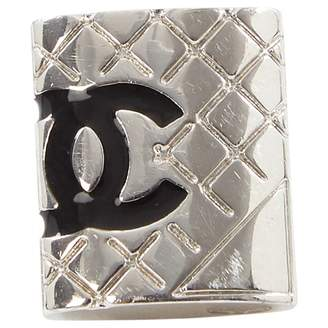 Chanel Matelasse Silver Metal Pins & brooches