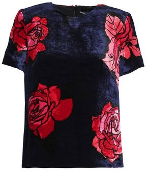 Markus Lupfer Floral-Print Chenille Top