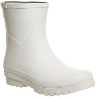 Vagabond Mila Rubber Ankle Boots White