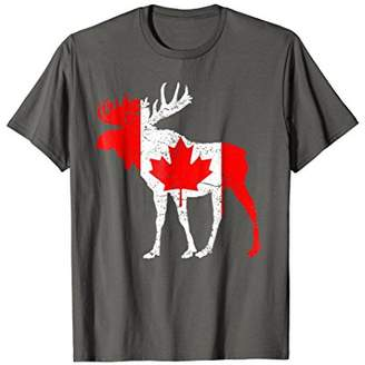 Love Canada Moose Funny T-Shirt Tee Pride Maple Flag Gift