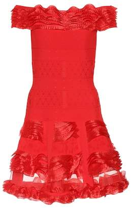 Alexander McQueen Ruffled off-the-shoulder minidress