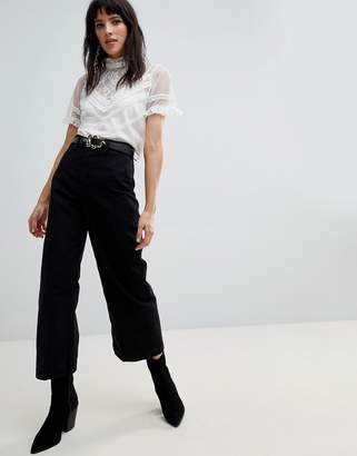 Free People Patti wide leg cropped trousers