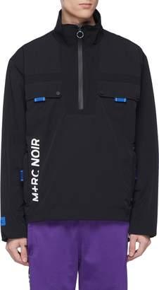 M+RC NOIR Logo print chest pocket half-zip jacket