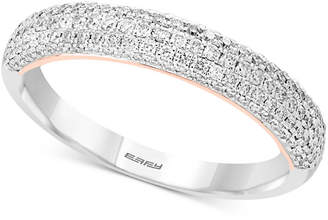 Effy Pavé Classica by Diamond Pavé Band (1/2 ct. t.w.) in 14k White & Rose Gold