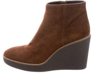 Aquatalia Shearling-Lined Wedge Ankle Boots w/ Tags