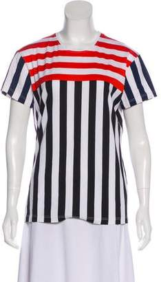 Jonathan Saunders Striped Short Sleeve Top